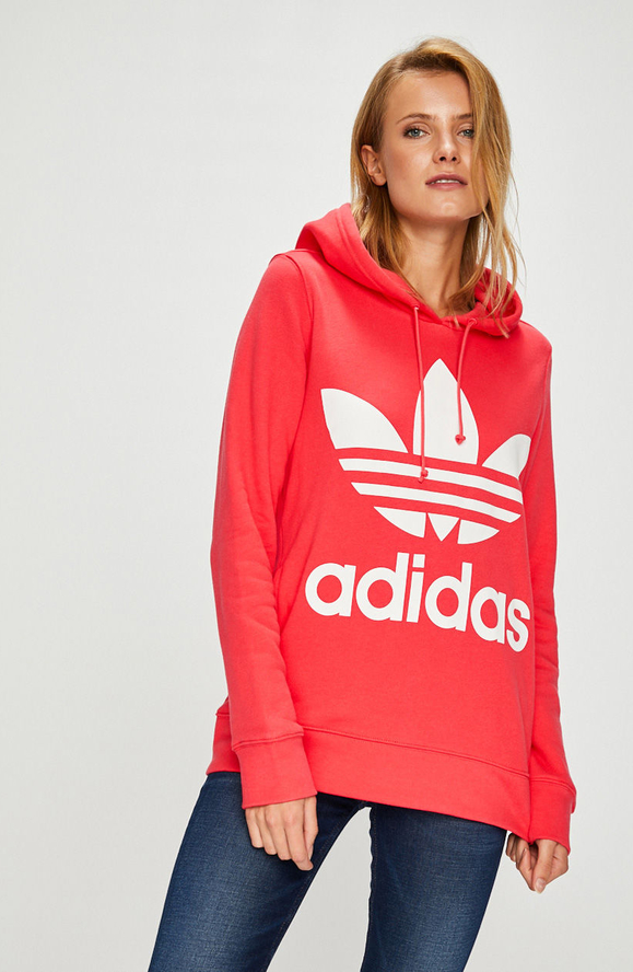 nowy produkt Darmowa dostawa zakupy Czarna bluza Adidas Originals z nadrukiem krótka w ...
