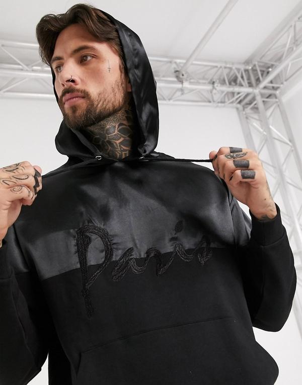 Czarna bluza Asos z tkaniny