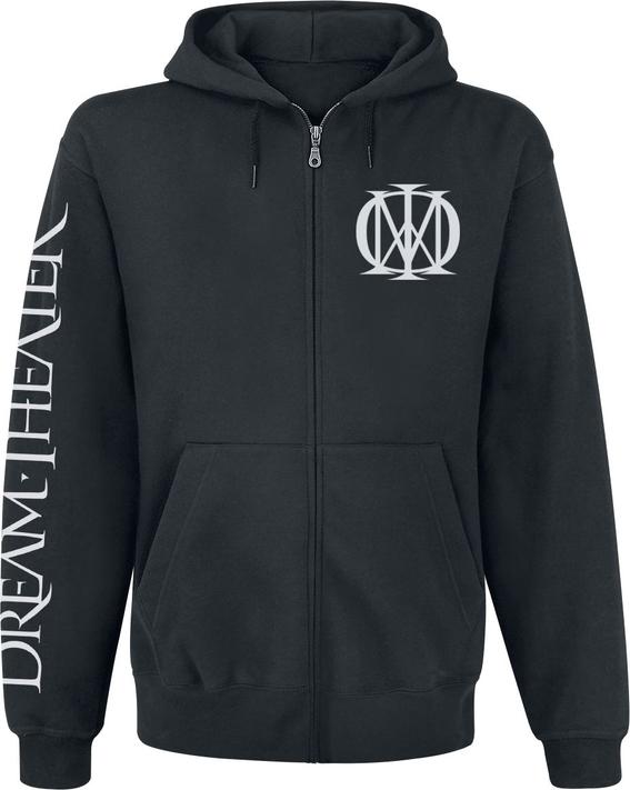 Czarna bluza Dream Theater w młodzieżowym stylu z bawełny