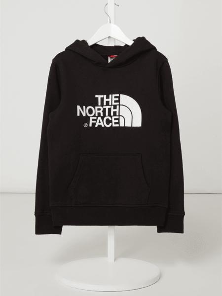 Czarna bluza dziecięca The North Face z bawełny