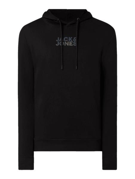 Czarna bluza Jack & Jones w młodzieżowym stylu z bawełny