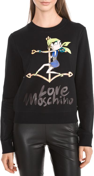 Czarna bluza Love Moschino z bawełny