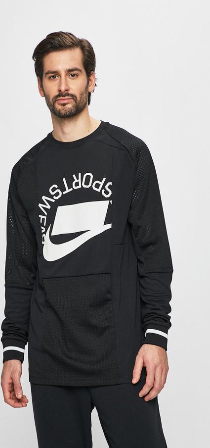 Czarna bluza Nike Sportswear z dzianiny