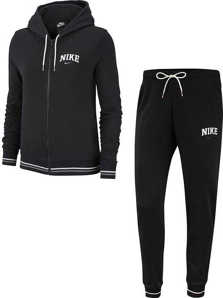 Czarna bluza Nike z dresówki