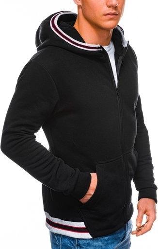 Czarna bluza Ombre w młodzieżowym stylu z bawełny