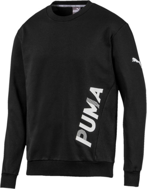 Czarna bluza Puma w sportowym stylu z bawełny