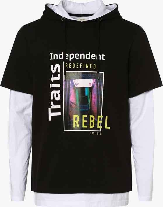 Czarna bluza Redefined Rebel z nadrukiem