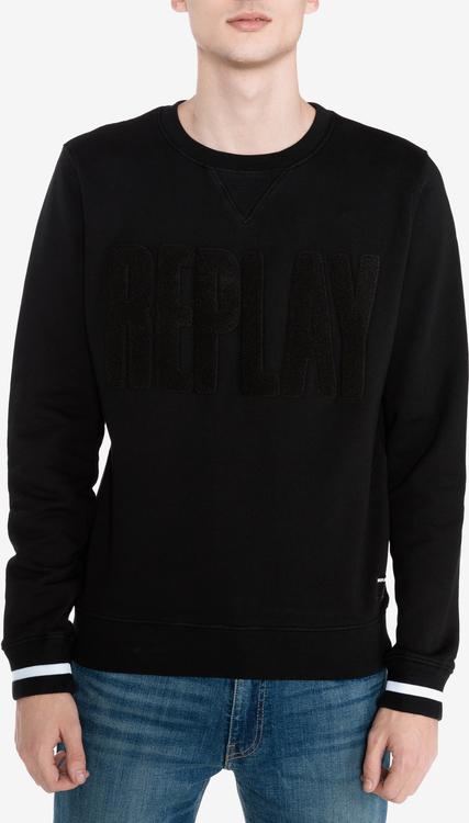 Czarna bluza Replay