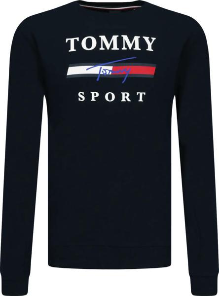 Czarna bluza Tommy Sport w młodzieżowym stylu