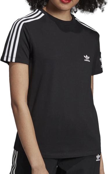 Czarna bluzka Adidas z bawełny z nadrukiem