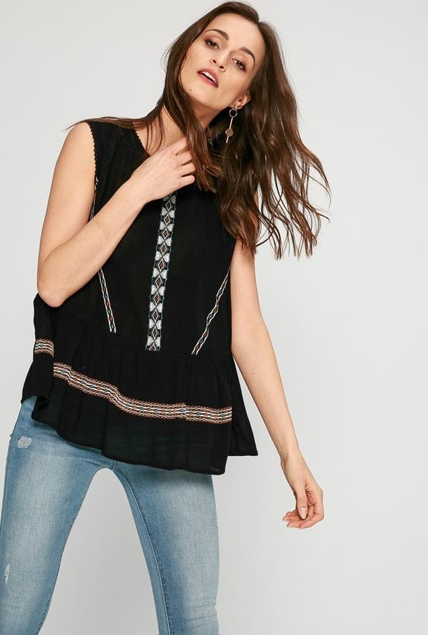 Czarna bluzka Answear