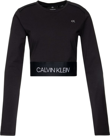 Czarna bluzka Calvin Klein w stylu casual