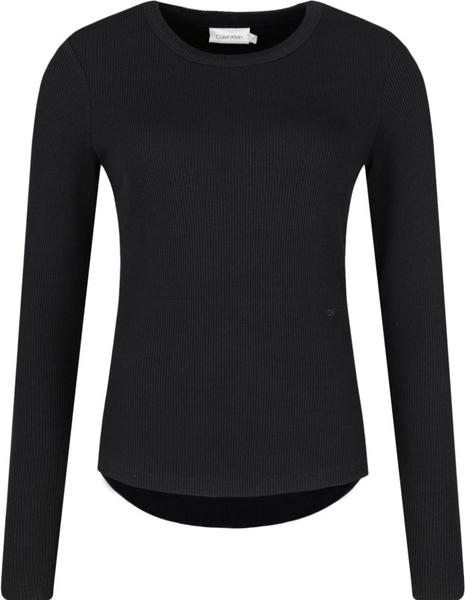 Czarna bluzka Calvin Klein z okrągłym dekoltem