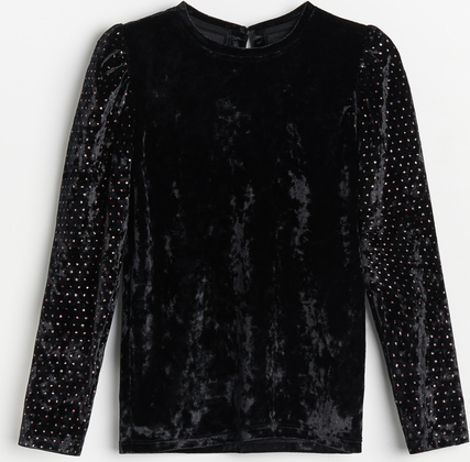 Czarna bluzka dziecięca Reserved