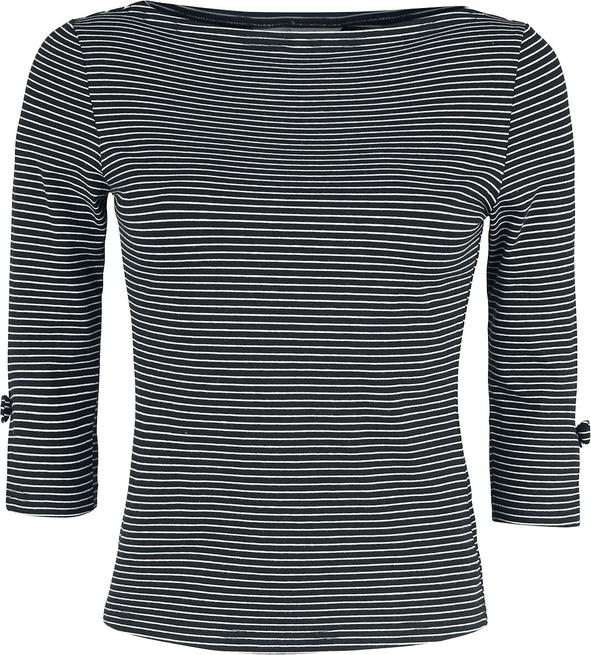 Czarna bluzka Emp z długim rękawem