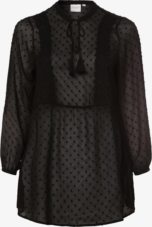 Czarna bluzka Junarose z długim rękawem
