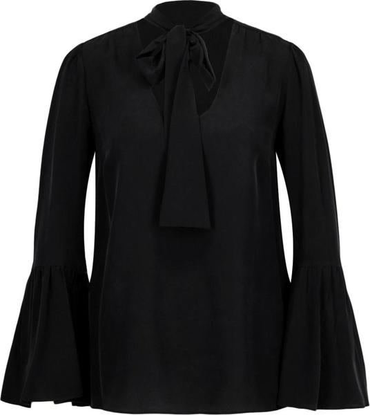 Czarna bluzka Michael Kors ze sznurowanym dekoltem