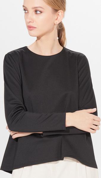 Czarna bluzka Mohito w stylu klasycznym