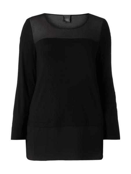 Czarna bluzka Persona by Marina Rinaldi z szyfonu
