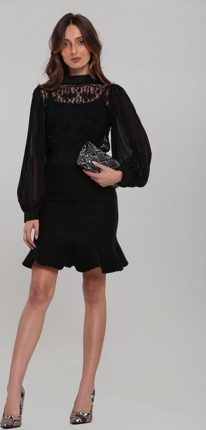 Czarna bluzka Renee w stylu boho