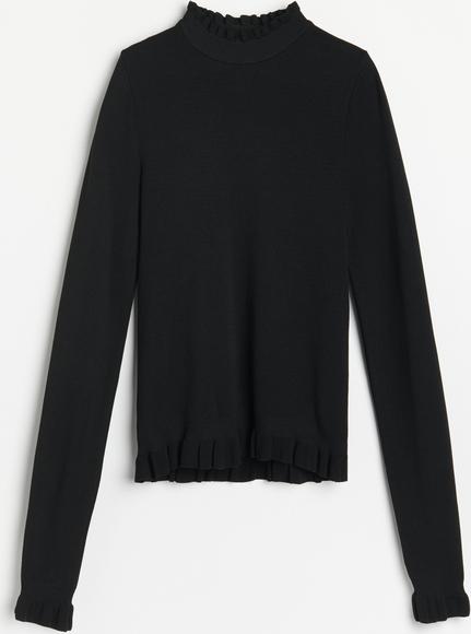 Czarna bluzka Reserved z golfem