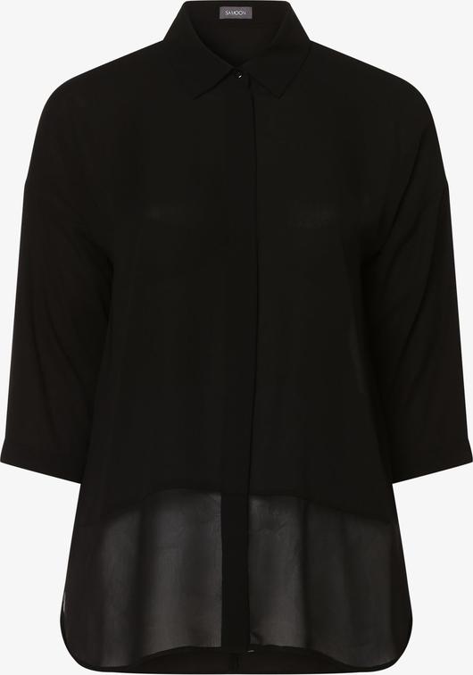 Czarna bluzka Samoon z kołnierzykiem
