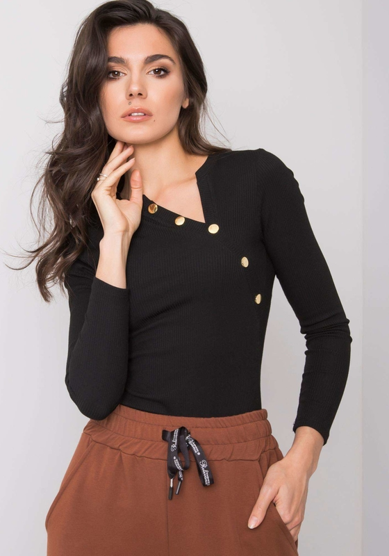 Czarna bluzka Sheandher.pl w stylu casual