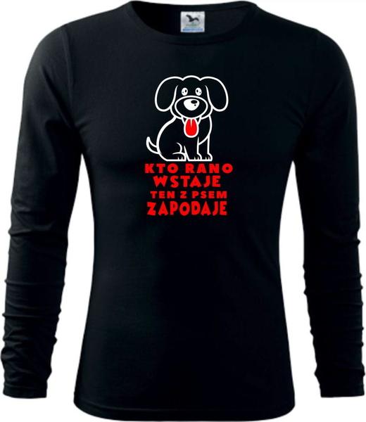 Czarna bluzka TopKoszulki.pl z długim rękawem
