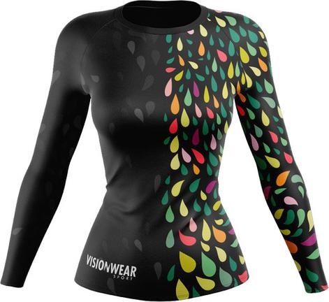 Czarna bluzka Vision Wear Sport z tkaniny