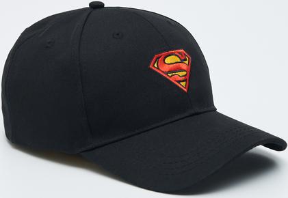 Czarna czapka Sinsay z nadrukiem