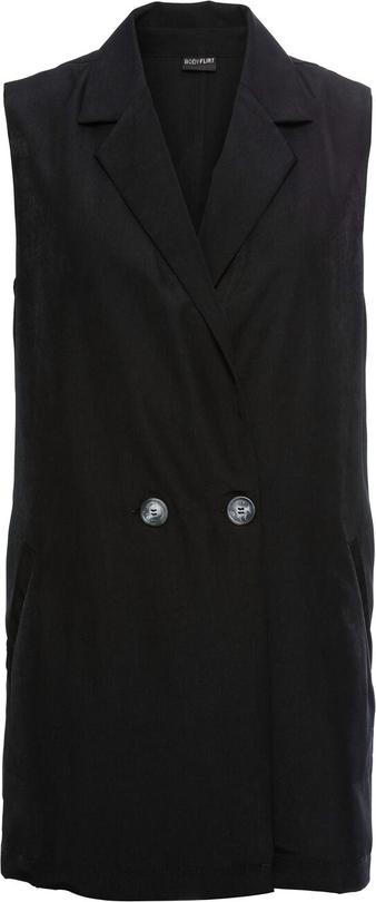 Czarna kamizelka bonprix BODYFLIRT długa w stylu casual
