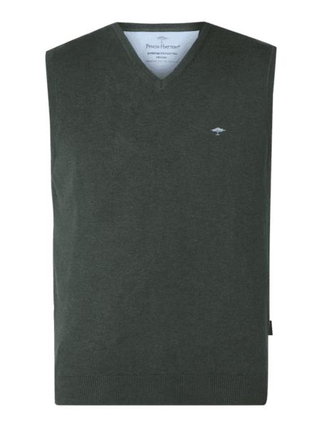 Czarna kamizelka Fynch Hatton z bawełny