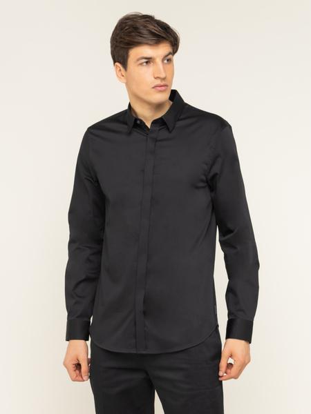 Czarna koszula Armani Exchange z klasycznym kołnierzykiem