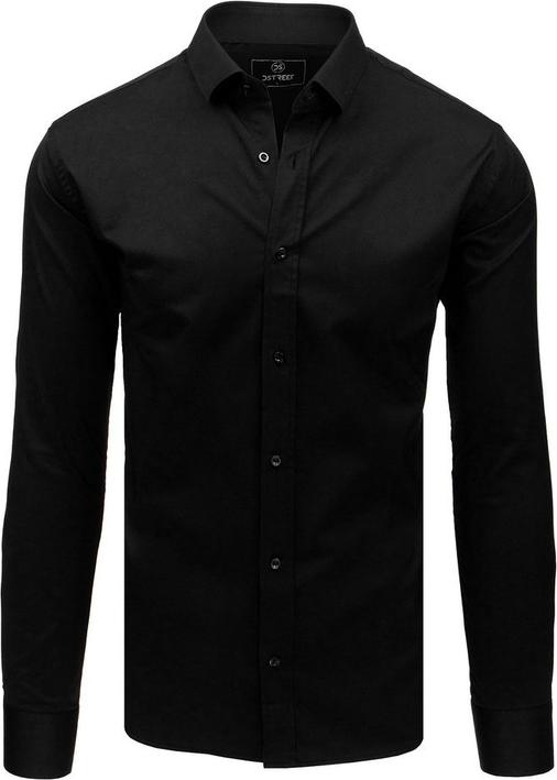 Czarna koszula Dstreet z długim rękawem z kołnierzykiem button down
