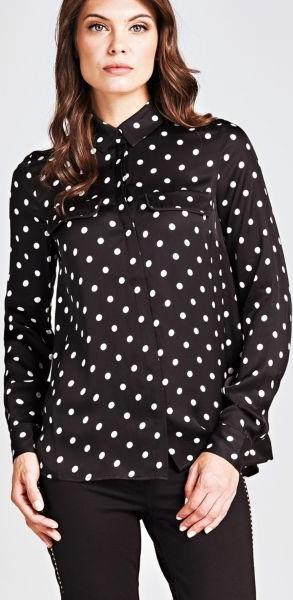 Czarna koszula Guess z długim rękawem