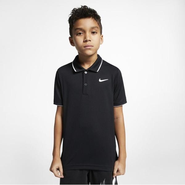 Czarna koszulka dziecięca Nike z krótkim rękawem