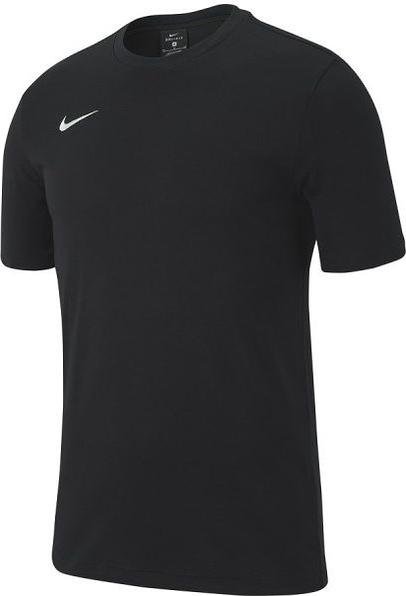 Czarna koszulka dziecięca Nike z tkaniny z krótkim rękawem