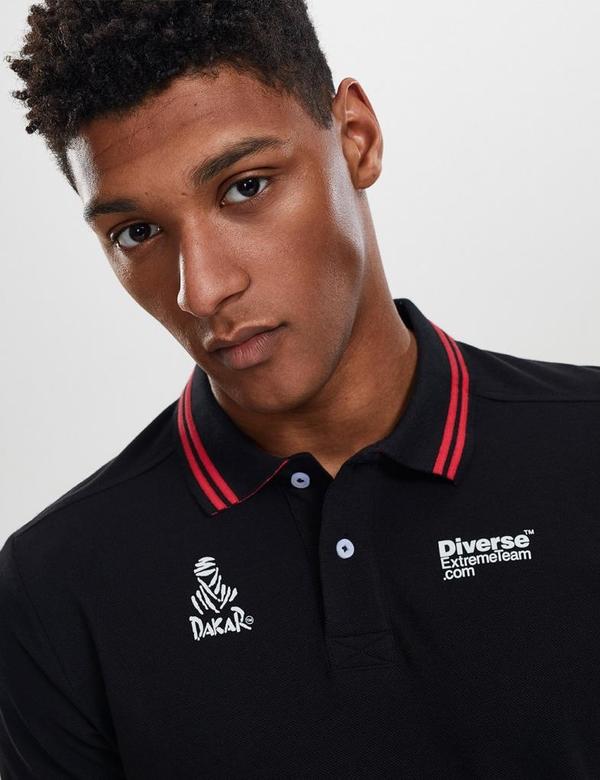 Czarna koszulka polo DiverseExtreme