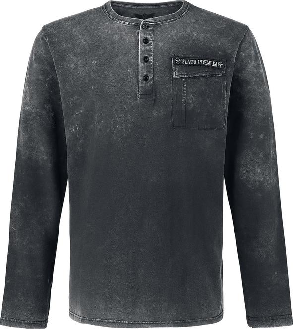 Czarna koszulka z długim rękawem Black Premium By Emp w stylu casual z bawełny