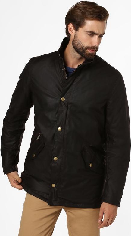Czarna kurtka Barbour w stylu casual