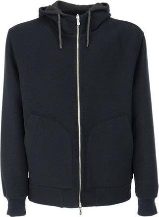 Czarna kurtka Brunello Cucinelli krótka z bawełny