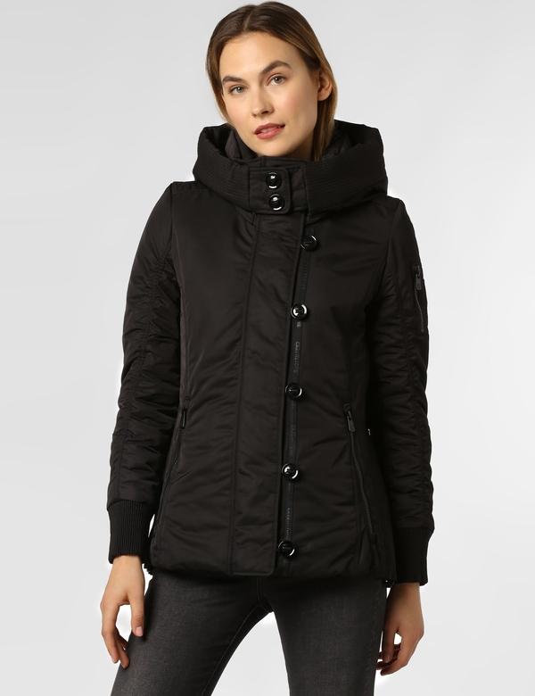Czarna kurtka Creenstone krótka w stylu casual