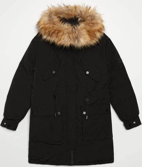 Czarna kurtka Cropp w stylu casual