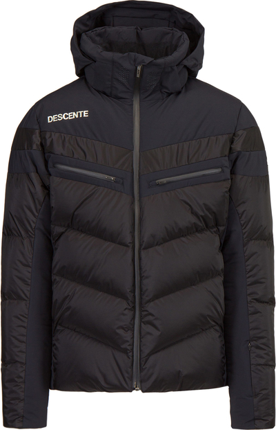 Czarna kurtka Descente z tkaniny krótka