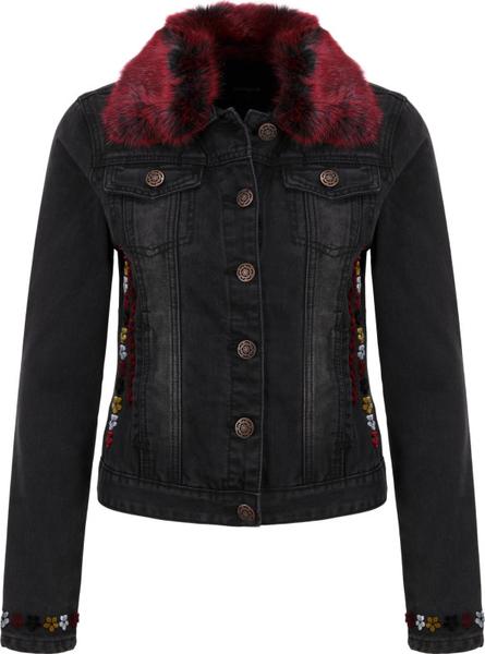 Czarna kurtka Desigual w street stylu krótka