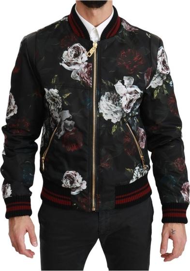 Czarna kurtka Dolce & Gabbana krótka