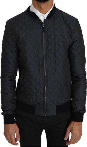 Czarna kurtka Dolce & Gabbana krótka z jedwabiu