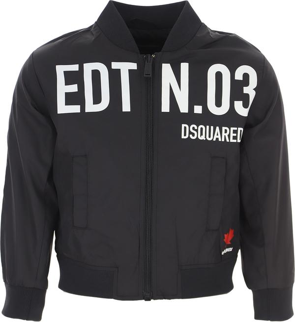 Czarna kurtka dziecięca Dsquared2