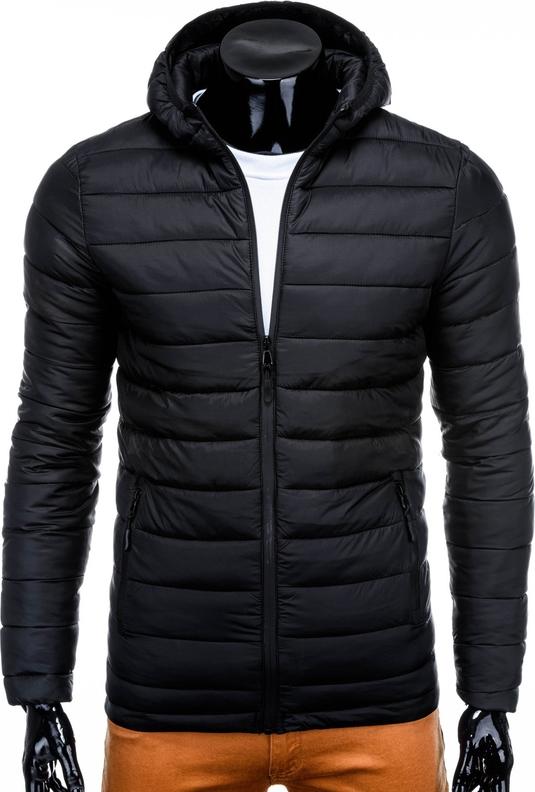 Czarna kurtka Edoti w stylu casual