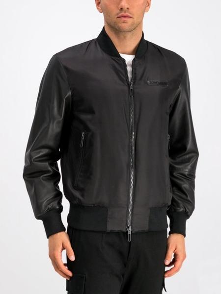 Czarna kurtka Emporio Armani w stylu casual